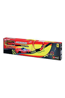 BURAGO Ferrari Race & Play single-loop playset