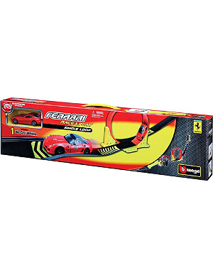BURAGO Ferrari Race & Play single-loop playset