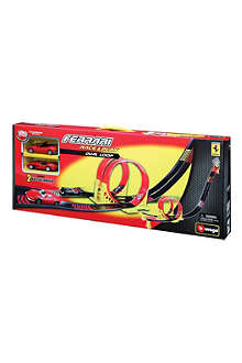BURAGO Ferrari Race & Play dual-loop playset