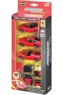 BURAGO Ferrari Race & Play triple playset