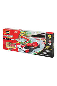 BURAGO Ferrari Race & Play playmat set