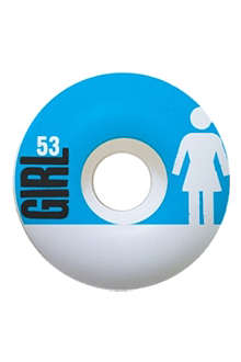 GIRL White lean skateboard wheels 53mm