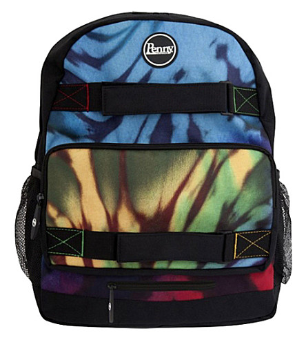 PENNY BOARDS Tie dye-print backpack