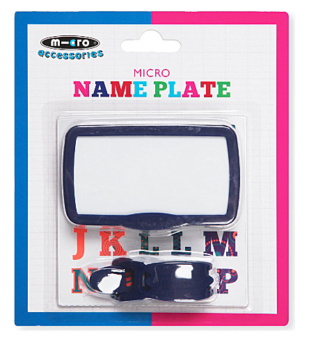 MICRO SCOOTER Customisable name plate