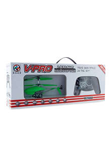 FLYING GADGETS Remote control glow in the dark helicopter