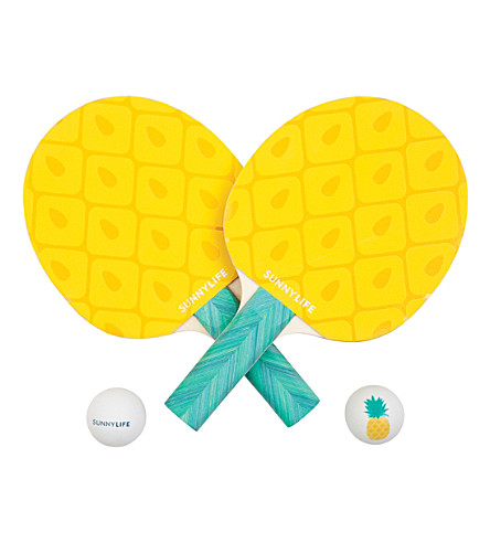 SUNNYLIFE Pineapple ping-pong set