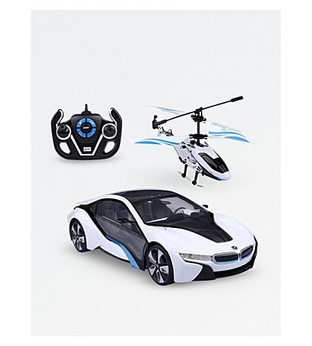 RASTAR BMX i8 & helicopter toy set (White