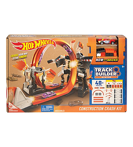 HOTWHEELS Track Builder Construction Crash kit