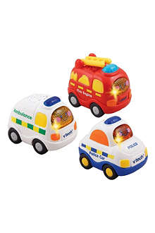 VTECH Set of three emergency vehicles