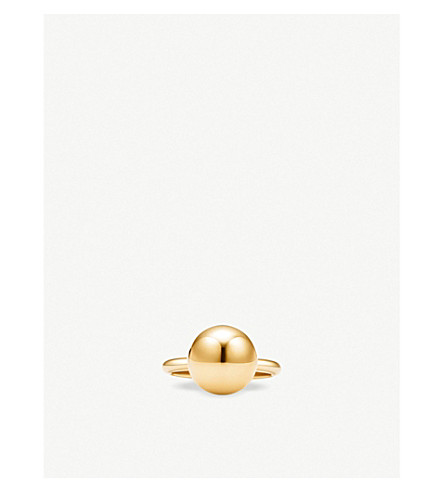 TIFFANY & CO Tiffany City HardWear ball 18k yellow-gold ring (Gold