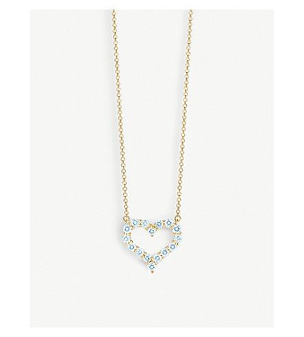 TIFFANY & CO 18ct gold diamond heart pendant necklace