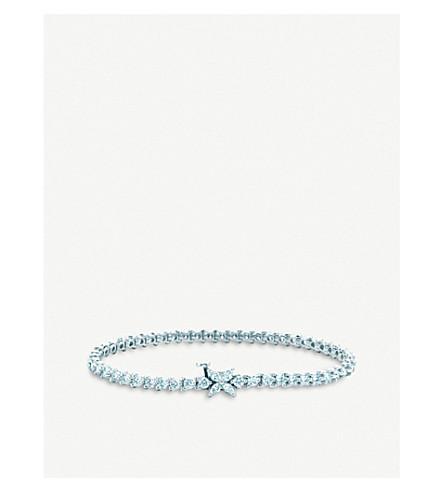 TIFFANY & CO Tiffany Victoria Line platinum and diamond bracelet