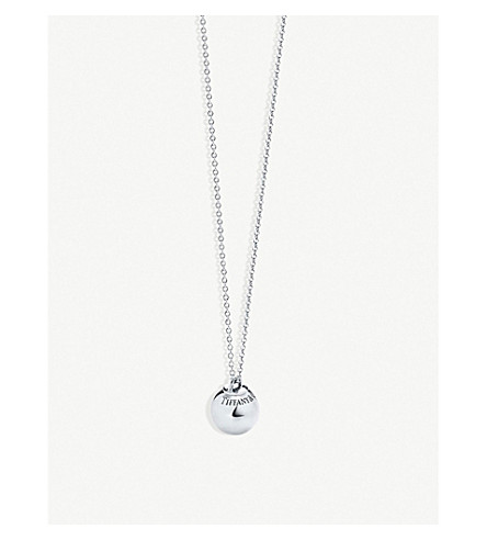 TIFFANY & CO Tiffany City HardWear sterling silver ball pendant necklace (Silver
