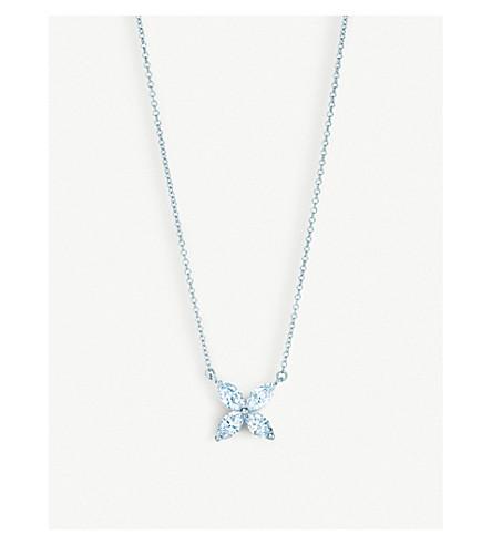 TIFFANY & CO Platinum diamond pendant necklace