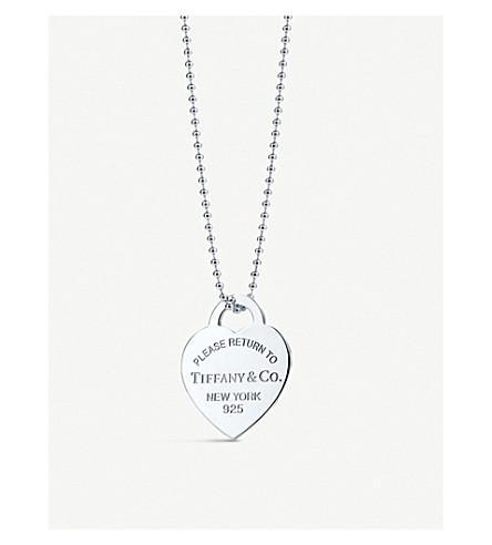 TIFFANY & CO Return to Tiffany heart tag sterling silver pendant