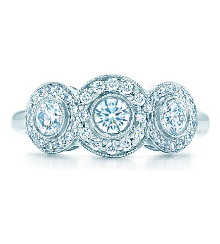 TIFFANY & CO Tiffany Circlet ring of diamonds in platinum