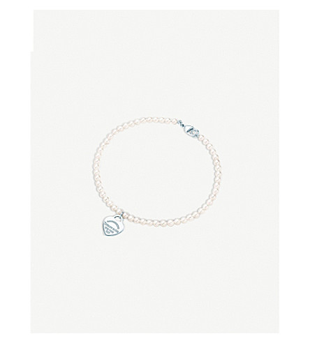 TIFFANY & CO Return to Tiffany pearl and sterling silver bracelet