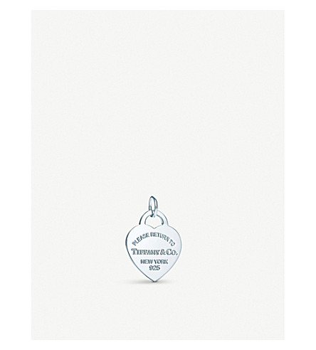 TIFFANY & CO Return to Tiffany heart tag sterling silver charm