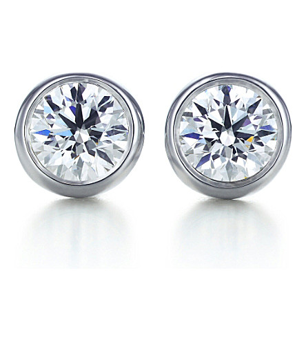 TIFFANY & CO Elsa Peretti® Diamonds by the Yard® earrings in platinum