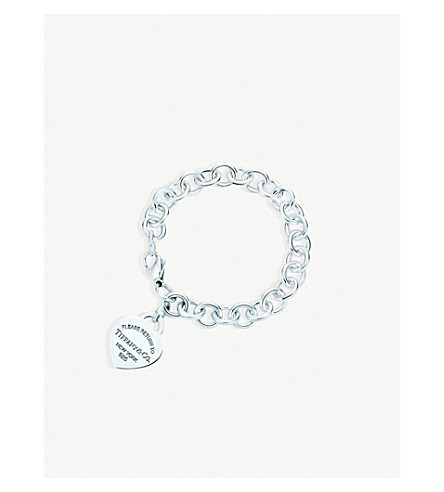TIFFANY & CO Return to Tiffany Heart Tag Charm Bracelet