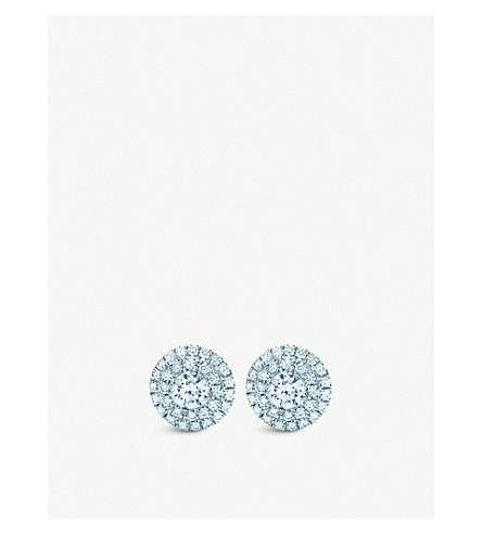 TIFFANY & CO Soleste platinum diamond earrings