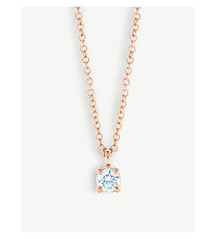TIFFANY & CO 18ct rose-gold diamond pendant necklace