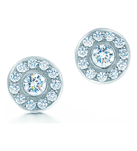 TIFFANY & CO Tiffany Circlet earrings of diamonds in platinum