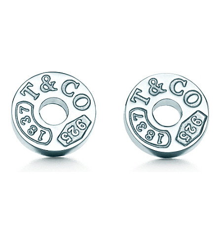 TIFFANY & CO Tiffany 1837™ circle earrings in sterling silver