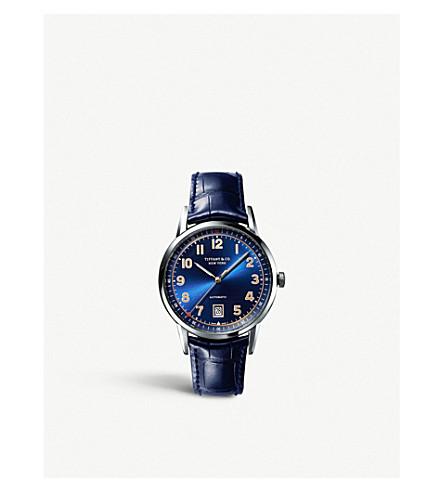 TIFFANY 和 CO TIFFANYCT60 3 手40mm 人的手表在不锈钢