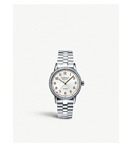 TIFFANY & CO Tiffany CT60™ 3-Hand 34mm women's watch in stainless steel