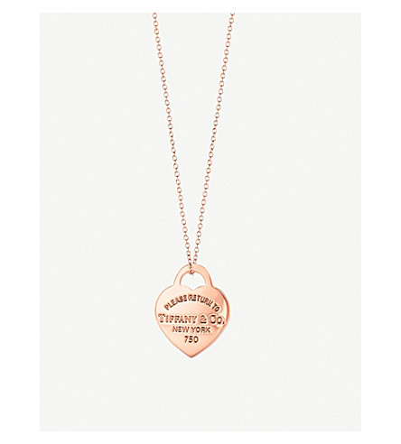 TIFFANY & CO Return to Tiffany's 18ct rose-gold heart tag necklace