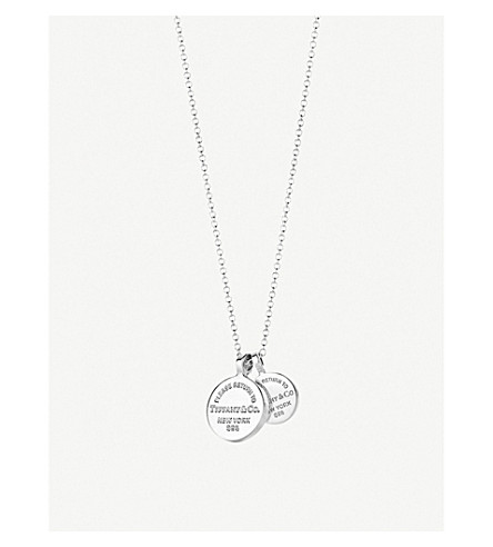 TIFFANY & CO Return to Tiffany Circle Duo sterling silver pendant necklace