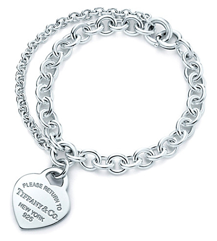 TIFFANY & CO Return to tiffany™ heart tag charm double-chain bracelet