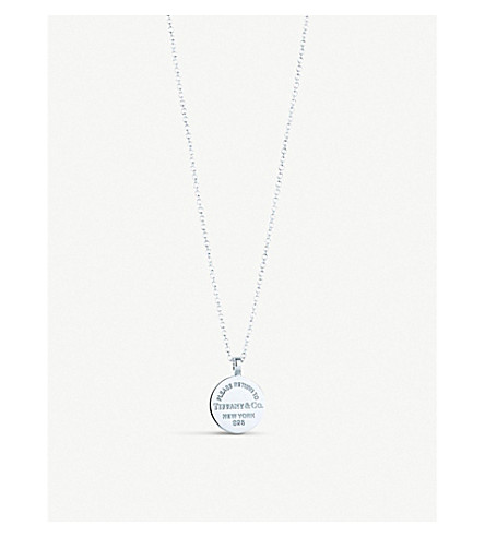 TIFFANY & CO Return to Tiffany Circle Tag sterling silver pendant