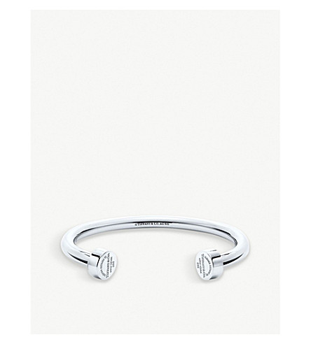 TIFFANY & CO Return to Tiffany Circle Edge sterling silver cuff