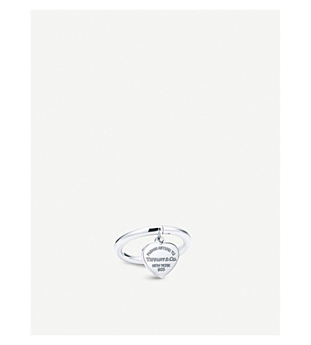 TIFFANY & CO Return to Tiffany™ Sterling Silver Heart Tag Ring