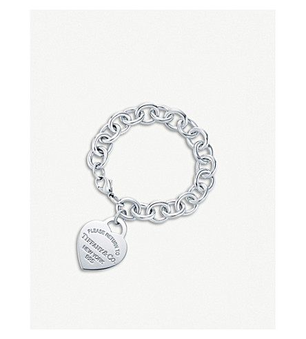 TIFFANY & CO Return to Tiffany™ Sterling Silver Heart Tag Bracelet