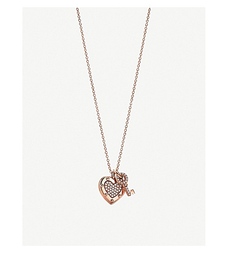 TIFFANY & CO Return to Tiffany™ Love Heart Tag 18ct rose-gold and diamond necklace