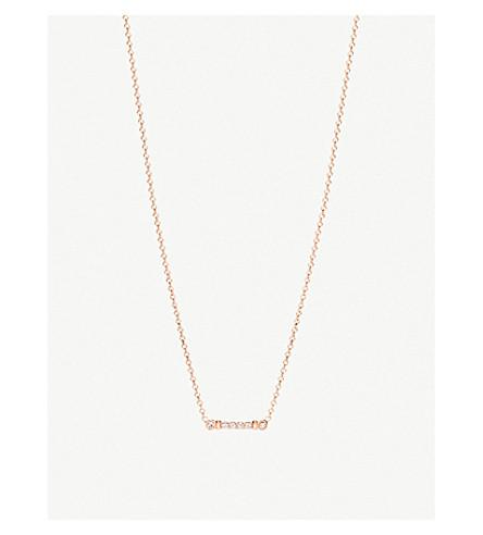 蒂芙尼 & CO芙蓉钥匙茎18ct 玫瑰-黄金和钻石坠项链 (玫瑰 + 黄金
