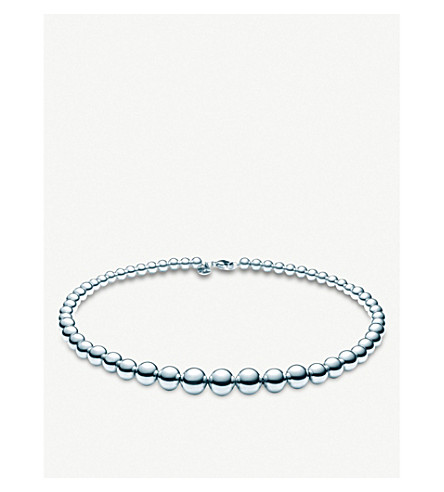 TIFFANY & CO Tiffany Beads sterling silver necklace (Silver