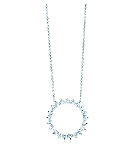 TIFFANY & CO Open circle pendant, diamonds, platinum