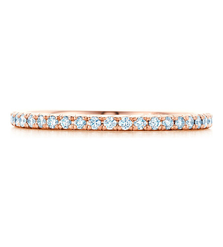 TIFFANY & CO Tiffany Metro ring in 18k rose gold with diamonds