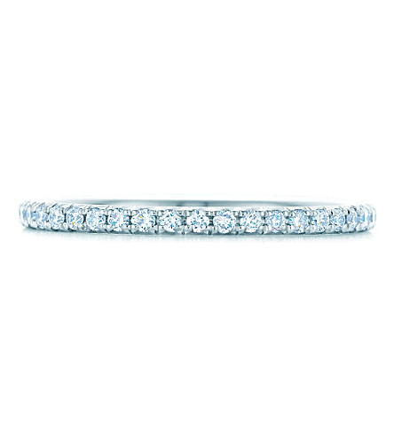 TIFFANY & CO Tiffany Metro ring in 18k white gold with diamonds