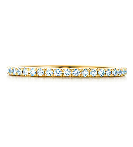 TIFFANY & CO Tiffany Metro ring in 18k gold with diamonds