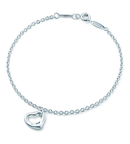 蒂芙尼 & CO 埃尔莎 Peretti®开放的心手镯在纯银
