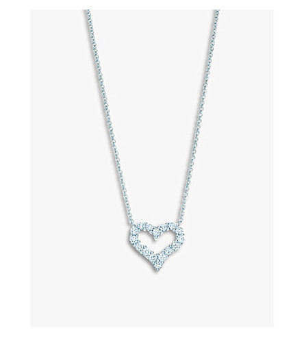 TIFFANY & CO Tiffany Hearts™ pendant with diamonds in platinum