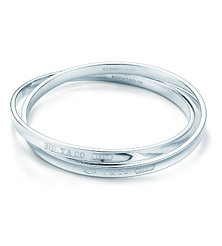 TIFFANY & CO Tiffany 1837 interlocking circles bangle in sterling silver