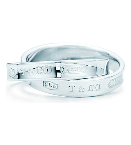 TIFFANY & CO Tiffany 1837™ interlocking circles ring in sterling silver