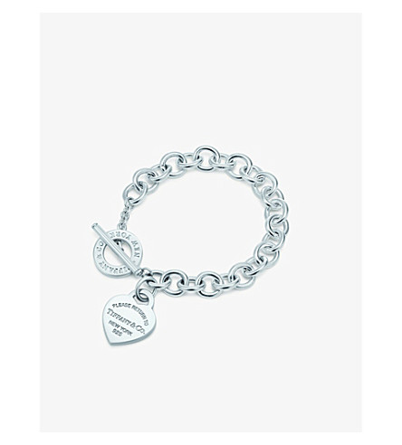 TIFFANY & CO Return to Tiffany heart tag toggle bracelet in sterling silver