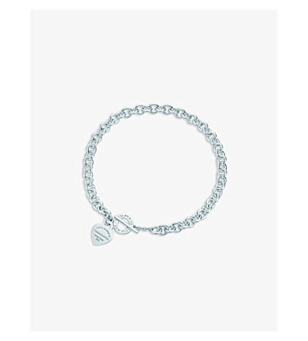 TIFFANY & CO Return to Tiffany heart tag toggle necklace in sterling silver
